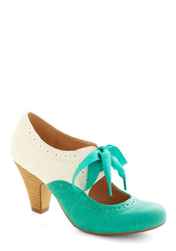 Book Signing Soiree Heel in Teal