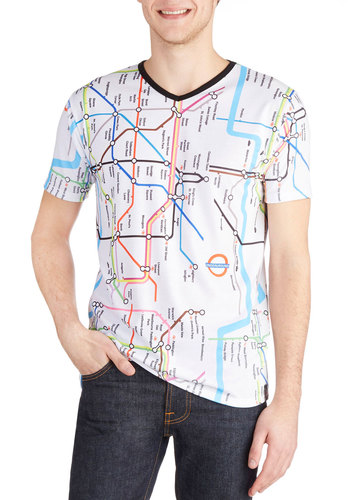 Tube Be or Not To Be Tee - Jersey, Knit, Mid-length, Multi, Novelty Print, Casual, Urban, Good, Crew, White, Short Sleeve, Short Sleeves, Guys