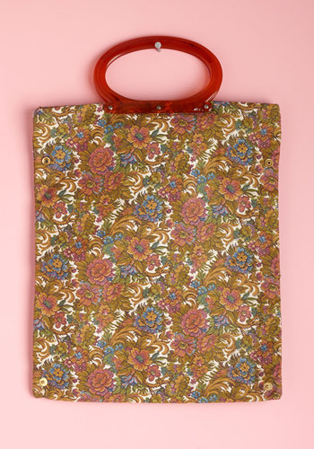 Vintage Pressed Flower Power Bag