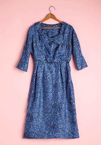 Vintage Blue Mum Day Dress