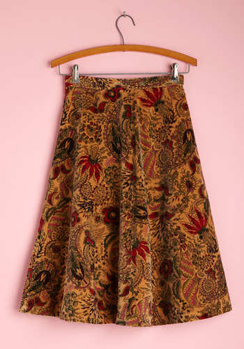 Vintage Paisley Petals Skirt
