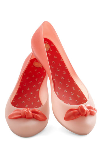 Newfound Nectar Flat by Mel Shoes - Pink, Red, Bows, Kawaii, Good, Low