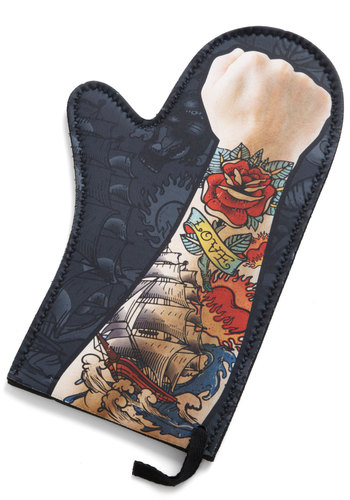 Sleeve It All to Me Oven Mitt - Multi, Rockabilly, Novelty Print, Guys