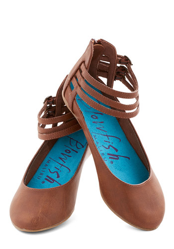 Call Me the Wrapper Flat - Solid, Casual, Boho, Flat, Good, Faux Leather, Brown