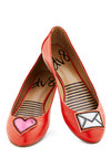 Icon Do Anything Flat in Heart by Dolce Vita - Flat, Faux Leather, Red, Quirky, Good, Novelty Print, Valentine's