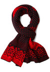 Flake Placid Scarf - Print, Fall, Winter, Better, Knit, Black, Red