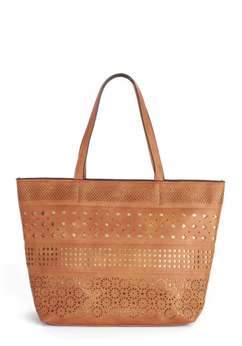 Secret Sparkle Bag - Tan, Solid, Cutout, Daytime Party, Better, Faux Leather, Travel