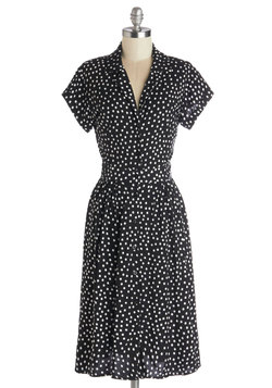 Waltz on a Whim Dress in Polka Dots