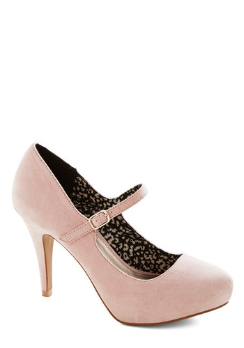 Flavor of the Chic Heel - Mid, Pink, Solid, Prom, Wedding, Party, Girls Night Out, Bridesmaid, Bride, Pastel, Good, Mary Jane, Faux Leather, Minimal, Valentine's