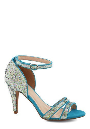 Isn't This Ice? Heel - Mid, Blue, Multi, Solid, Glitter, Prom, Party, Girls Night Out, Holiday Party, Good