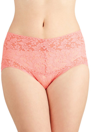Lacy and Lovely Undies in Rose by Hanky Panky - Sheer, Knit, Pink, Solid, Lace, Pastel, Lace, Wedding, Bridesmaid