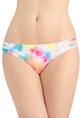 Kaleidoscope the Scene Swimsuit Bottom - Knit, Multi, Tie Dye, Beach/Resort, Summer
