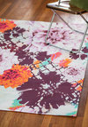 Bungalow and Behold Rug - 4x6 - Woven, Multi, Dorm Decor, Best, Floral