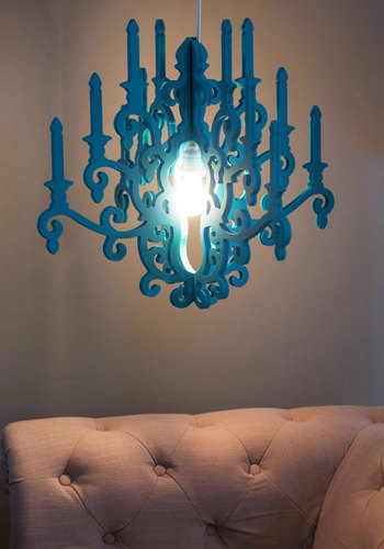 Glowing Gathering Chandelier - Blue, Vintage Inspired, Dorm Decor, Best, Solid, French / Victorian, Wedding