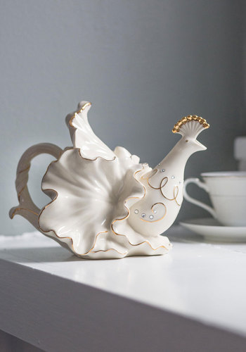 Elegant Arrangement Teapot - White, Wedding, Boho, Luxe, French / Victorian, Better