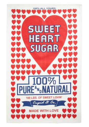 One Sweet Treat Tea Towel - Woven, Valentine's, Red, Novelty Print