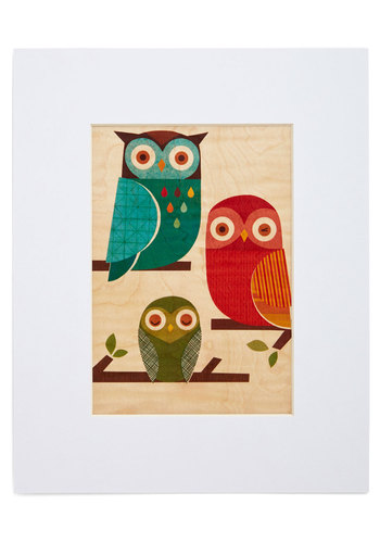 Wild at Hearth Print in Owls - Multi, Owls, Good, Print with Animals, Dorm Decor, Critters, Variation, Boho, Under $20