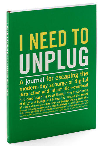 I Need to Unplug Journal by Knock Knock - Green, Quirky, Good