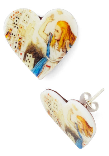 Alice in Earrings - Good, Multi, Novelty Print, Nifty Nerd