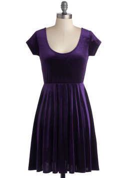 Vivacious in Velvet Dress in Purple