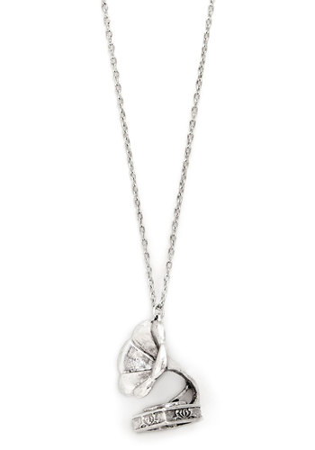 Speed of Sound Necklace - Solid, Music, Silver, Good