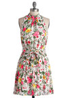 Highlight It Up Dress - Mid-length, Multi, Floral, Belted, Casual, A-line, Sleeveless, Better, Daytime Party, Spring, Top Rated