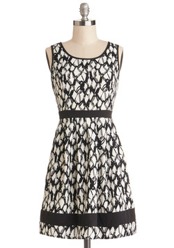 Monochrome Maven Dress