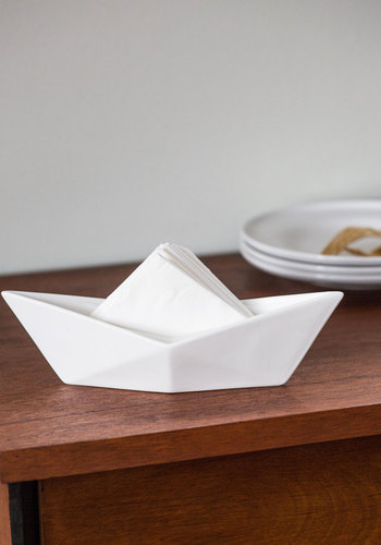 Boy oh Buoy Napkin Holder - White, Solid, Minimal, Nautical, Summer, Americana