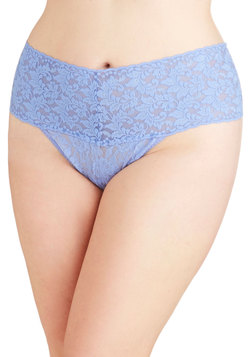 Hanky Panky Mellow Mornings Thong in Periwinkle - Plus Size