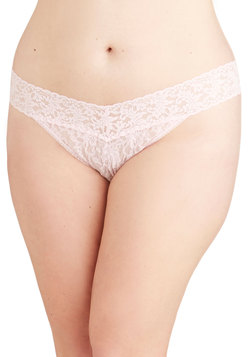 Hanky Panky Bright From the Start Thong in Petal - Plus Size