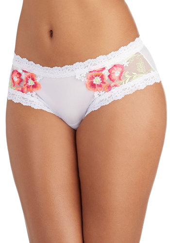 Hanky Panky And Brightly So Undies by Hanky Panky - White, Pink, Solid, Embroidery, Bride, Vintage Inspired, Sheer, Knit, Lace, Wedding, Boudoir, Darling