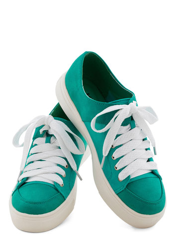 Meant to Be Outside Sneaker - Low, Faux Leather, Woven, Green, Solid, Casual, Lace Up, Summer