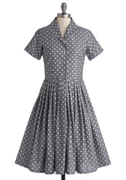 Mod of Approval Dress in Polka Dots