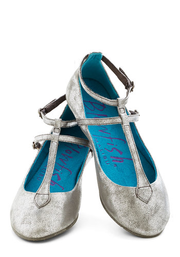 Cute on the Fly Flat in Silver - Silver, Solid, Flat, Good, Faux Leather, Variation
