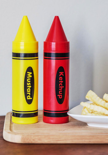 Primed to Picnic Condiment Dispenser Set - Multi, Quirky, Good, Red, Yellow