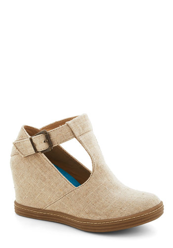 Inner Artist Wedge in Sand - Tan, Better, Platform, Wedge, Mid, Woven, Solid
