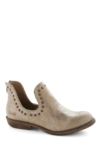 Big Dipper Bootie - Bronze, Studs, Statement, Low, Good, Faux Leather