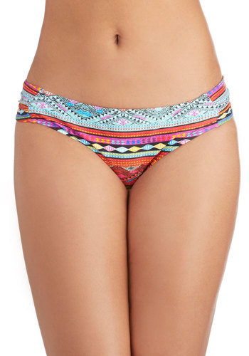 Cove Sunset Swimsuit Bottom - Knit, Multi, Print, Beach/Resort, Summer, Festival, Boho