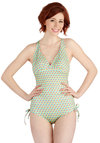 Up, Up, and Getaway One Piece - Knit, Mint, Multi, Novelty Print, Beach/Resort, Summer