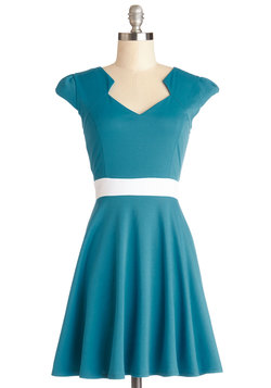 The Story of Citrus Dress in Turquoise