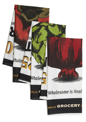 Fresh Selection Tea Towel Set - Cotton, Woven, Multi, Food, Good, Novelty Print, Top Rated