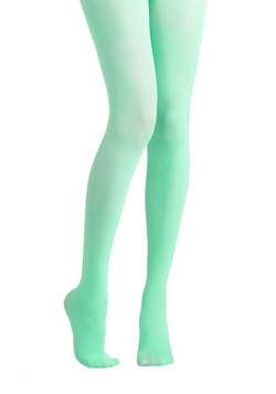 Tights for Every Occasion in Mint