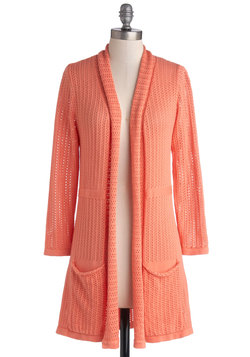 To Teach Her Own Cardigan in Coral
