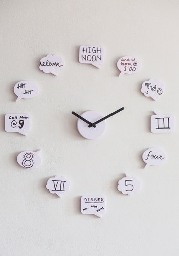 Tick Talk Clock - White, Quirky, Good