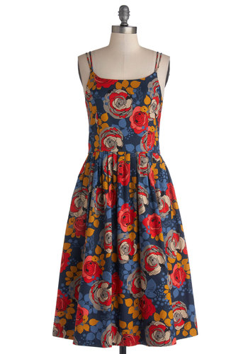 High Socie-tea Dress in Floral by Bea & Dot - Private Label, Cotton, Woven, Multi, Floral, Pockets, Daytime Party, A-line, Spaghetti Straps, Better, Scoop, Exclusives, Spring, Top Rated, Long