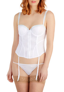 Everyday Romance Corset and Thong Set in White