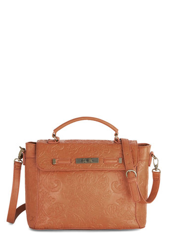 Gathering of Minds Bag by Nica - Faux Leather, Tan, Solid, Best, Work, Festival