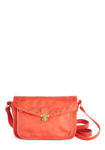 Make Persimmon of Yourself Bag in Orange by Nica - Faux Leather, Orange, Gold, Solid, Festival, Better, Orange, Work
