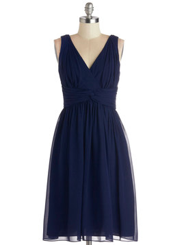 Glorious Guest Dress in Navy