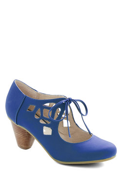 Strutting Your Stuff Heel in Cobalt